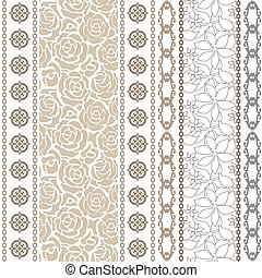 Art deco vintage silk wallpaper with ethnic motifs and bohemian elements.