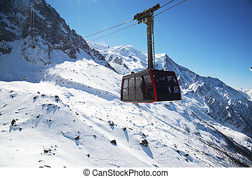 Chamonix, France: Cable Car from Chamonix to the summit of the Aiguille du Midi.