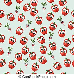 red bell pepper - Very high quality original trendy vector...