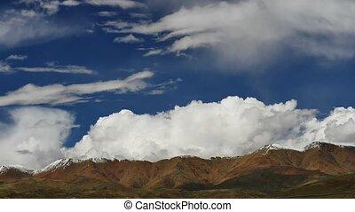 Clouds above mountain Tibet - Tibet Himalayas mountain sky...