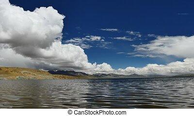 Mountain Lake Manasarovar Himalayas Tibet - Mountain lake...