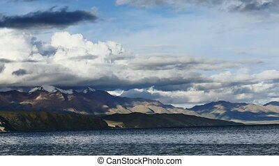 Mountain Lake Manasarovar Himalayas Tibet - Mountain lake...