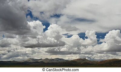 Clouds above mountain Tibet - TIBET Himalayas mountain sky...