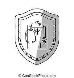 Stethoscope medical equipment icon vector illustration...