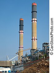 Powerplant - Industrial plant with huge chimneys