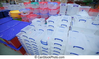 Reusable plastic containers at the mole