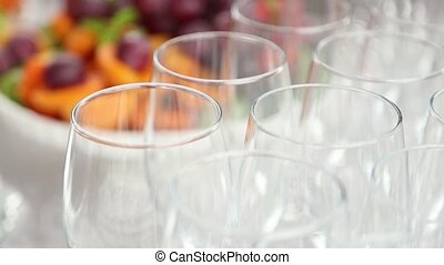 Wedding stemware and fruite - Wedding holyday. Stemware and...