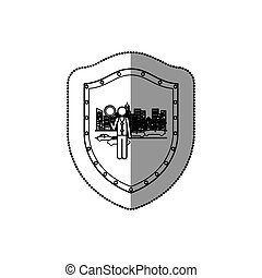 City traffic controller icon vector illustration graphic...