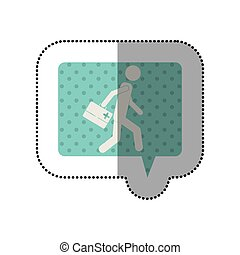Paramedic with suitcase icon vector illustration graphic...