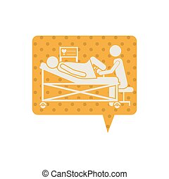 Giving birth pictogram icon vector illustration graphic...