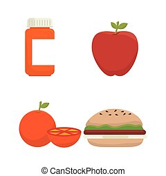 menu nutritive food icons vector illustration design