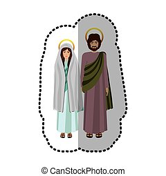 Virgin mary and joseph