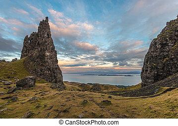 Scottish highlands sea landscape - The old man of Storr...