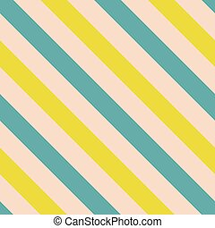 Tile vector pattern with blue and yellow stripes on pastel...