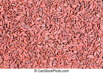 Background texture of healthy dried goji berries or...