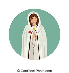Holy virgin mary icon vector illustration graphic design