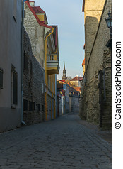 Laboratooriumi street in old town of Tallinn