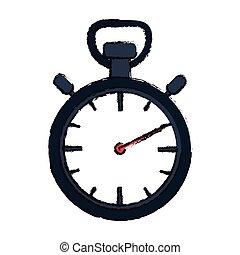 chronometer device icon - chronometer icon over white...