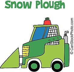 Snow plough collection vector art design cartoon