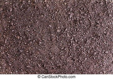 Background of bare soil with copy space for concepts about...