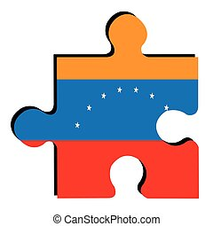 Isolated Venezuelan flag - Isolated piece of puzzle with the...