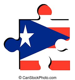 Isolated Puerto Rico flag