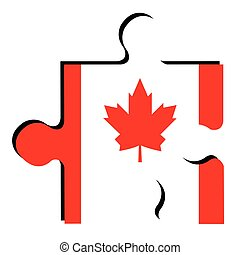 Isolated Canadian flag