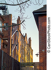 London flats in the twilight