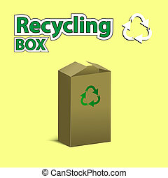 Recycling box. Vector illustration. - RECYCLED PACKAGE...