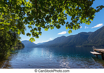 Crescent lake - Lake Crescent at Olympic National Park,...