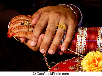 I will always protect you newly wed Indian couple - Newly...