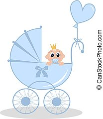 newborn baby boy - illustration of a newborn baby boy