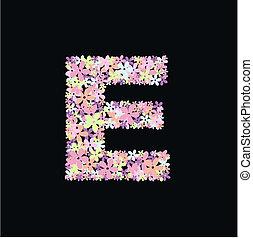 alphabet letter E - illustration of a alphabet letter E full...
