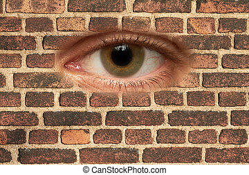 Wall - Pattern image of brick wall on side of house.