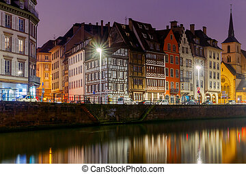 Strasbourg. Quay St. Nicholas. - Scenic view of the...