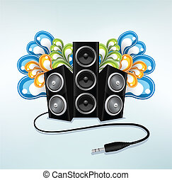 music speakers in party mode