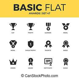 Basic set of Awards icons