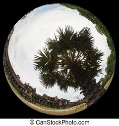 Angkor what timelapse using fisheye lens - angkor wat...