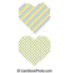 abstract shape heart design