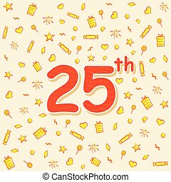 25th birthday or anniversary poster design