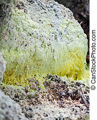Naturally Formed Yellow Sulfur - Yellow sulfur forming...