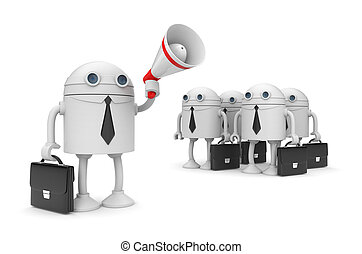 Orator - Business concept. Isolated on white