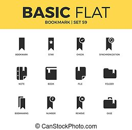 Basic set of bookmark icons