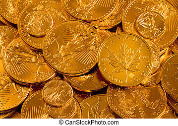 Canadian maple leaf fine gold one ounce coin - Canada Maple...