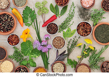 Dried and Fresh Herbs and Spices