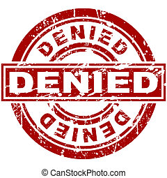 Denied Stamp - An image of a denied stamp