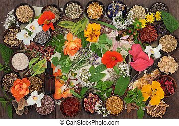 Dried Medicinal Flowers and Herbs