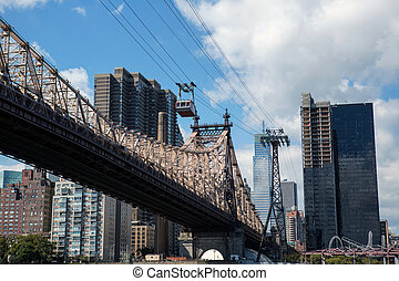 Roosevelt Island Tramway and Ed Koch Queensboro bridge