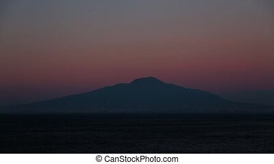 Sunset on the Mount Vesuvius.