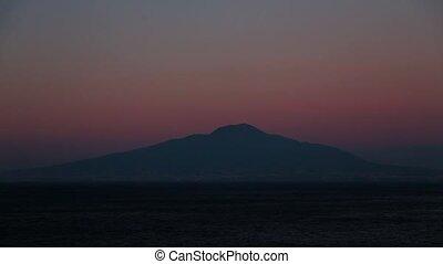 Sunset on the Mount Vesuvius.